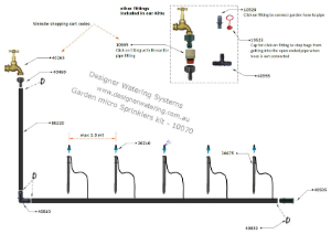 diagram of a garden micro sprinkler system | Designer Watering